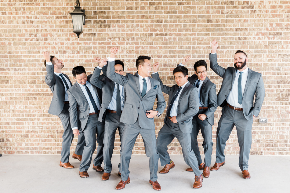 candid groom and groomsmen, dallas wedding photographer, dove ridge vineyard