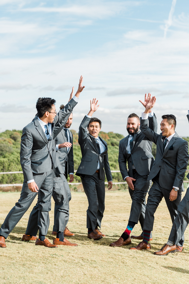 groom and groomsmen at dove ridge vineyard, dallas wedding photographer